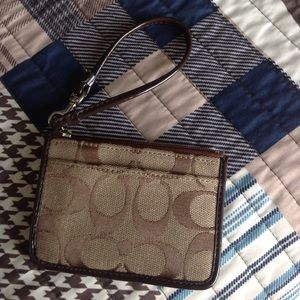 Real authentic Coach coin purse wristlet